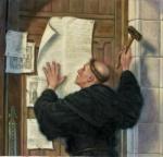 Lutero fijando las 95 tesis