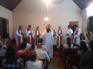 Ordenación e instalación del pastor misionero Lauro Adrián Solis en Encarnación, febrero de 2015.