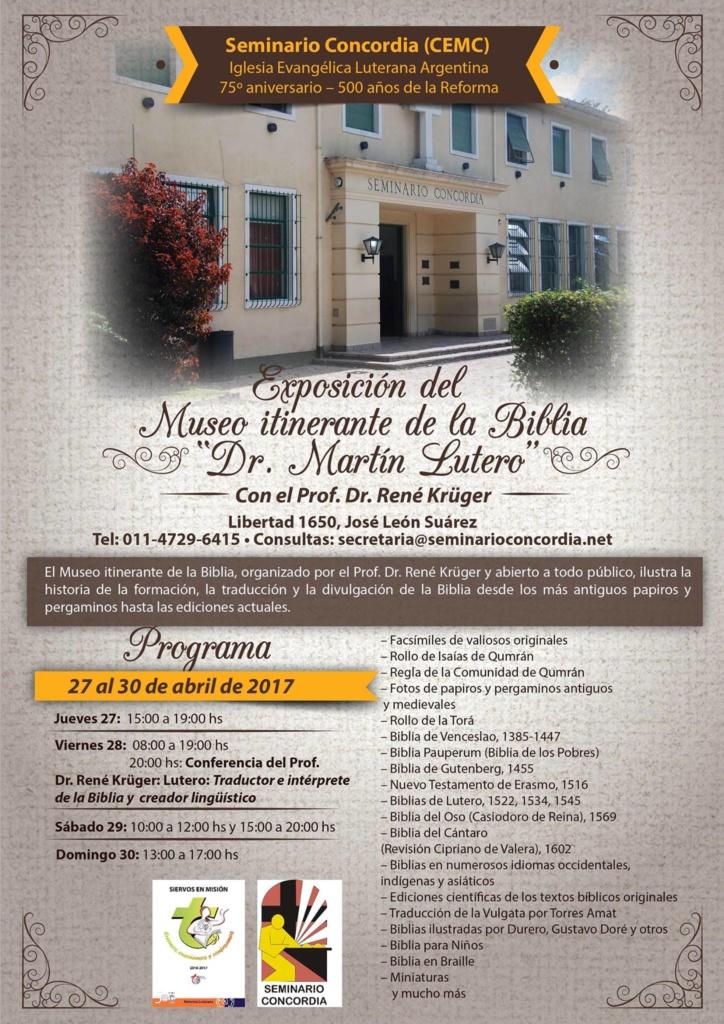 Exposición del Museo itinerante de la Biblia