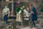 Johannes Gutenberg en su trabajo